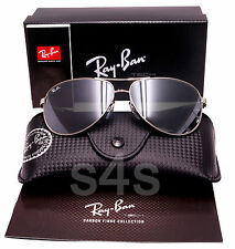 Ray Ban Tech Aviator Sunglasses CARBON FIBRE_SILVER_SILVER MIRROR 8313 003/40
