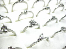 Wholesale Lots Jewelry 10pcs Rhinestone Silver Plated Rings New free shipping
