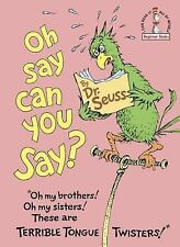 Beginner Books Ser.: Oh, Say Can You Say? by Dr. Seuss (1979, Hardcover)
