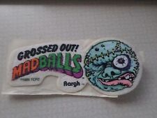 "VINTAGE 1980'S MADBALLS AARGH IRON ON PATCH 4 1/2"" X 2"""
