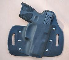 Leather/kydex hybrid OWB beltslide holster for Taurus PT111 - PT140  G2