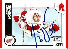 2010 Panini Score Jimmy Howard DETROIT RED WINGS Signed Auto Trading Card