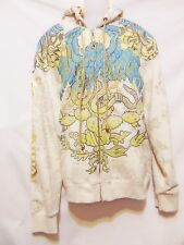 CHRISTIAN AUDIGIER Los Angeles Mens Full Zip Front Hoodie/Jacket XL Skull Winged