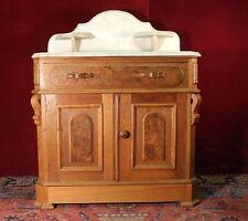 Eastlake Vanity Washstand Cabinet Marble Top
