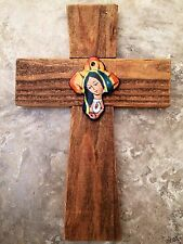 WaLL CRoSS ReCLaiMEd WooD MeXiCAN TaLaVeRa HaNdMaDe ViRgiN MaRy LaDy GuaDaLuPe