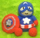 KNITTING PATTERN - Captain America inspired chocolate orange cover or 13 cms toy