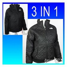 $240 THE NORTH FACE QUILTED PENNY TRICLIMATE 3 in 1 SIZE SMALL BLACK JACKET COAT