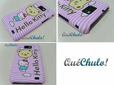 FUNDA CARCASA RIGIDA PARA SAMSUNG GALAXY S2 I9100 HELLO KITTY RAYAS GLOBO + FILM