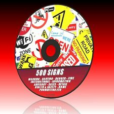 500+ ESSENTIAL SIGNS FIRE SAFETY COSHH SALE HOME RETAIL & WARNINGS Etc NEW PC CD