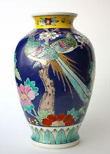 Porzellan Baluster Vase Pfauen-Paar Marke Nippon Tokusei Japan Showa (1926-1945)