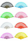 Chinese Vintage Fancy Dress Costume Party Bar Dancing Folding Lace Hand Fan