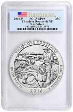2016-P 25c 5 oz.Silver ATB Theodore Roosevelt PCGS SP69 FS PRESALE SKU42435