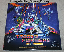Transformers The Movie Botcon Double Vinyl Record LP Album SIGNED Soundtrack