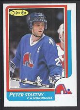 1986-87 OPC O PEE CHEE Peter Stastny Card Nice Shape Nordiques