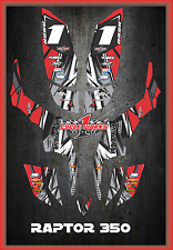 Yamaha RAPTOR350 RAPTOR 350 SEMI CUSTOM GRAPHICS KIT LIGHTNING4