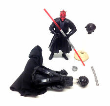 "STAR WARS Ultimate DARTH MAUL 3.75"" toy figure & accessories set lot, rogue"