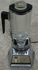 Vintage WARING DELUXE PUSH BUTTON BLENDER Glass Cloverleaf Lid Chrome mad men