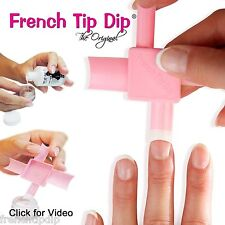 French Tip Dip Instant French Manicure kit. Use any nail polish. Sold On HSN QVC
