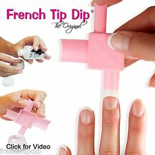 2 pack: French Tip Dip French Manicure Supplies Kit Use any nail polish! HSN QVC