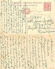 Intero Postale Viaggiata Montichiari Zona di Guerra WWI ANNO 1918 (S-L XX139)