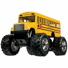 "5"" Yellow School Bus Big Wheel Monster Die Cast Toy Pull Back diecast metal"