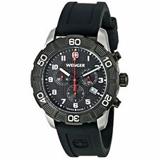 Wenger Mens Roadster Chronograph - Black PVD  Black Dial  leather 79215 0853.104