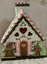 Mint Vintage Partylite Christmas Gingerbread Man Cookie Candy Tea Light House