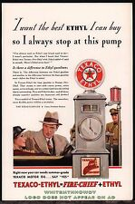 1937 TEXACO Antique Gasoline Gas Pump w/Glass Globe PRINT AD Advertising