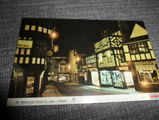 Chester CHESHIRE   St Werburgh Street at Night  POSTCARD VINTAGE GOOD CONDITION