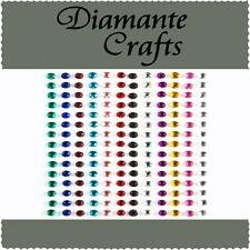 180 x 3mm Mixed Colour Diamante Self Adhesive Rhinestone Body Vajazzle Gems