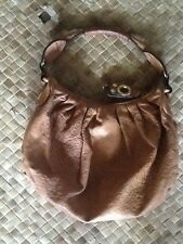 AUTHENTIC JUICY COUTURE BROWN LEATHER HOBO BAG PURSE