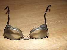 WW2 Motor Cycle Safety Glasses with Folding Mesh Sides 1940's - Steampunk