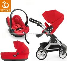 Stokke® Crusi™ Complete Travel System + iZi Go Modular  Red + FREE Cup Holder