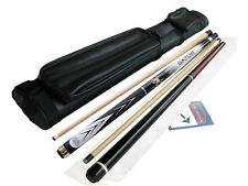 Spider White Cue, Gator AdamII Jump & Break Cue, 2x2 Leather Case, Cuetec Glove