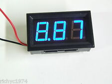 12v 24v BLUE VOLTMETER BATTERY INDICATOR DASHBOARD GAUGE LED KIT CAR SOLAR