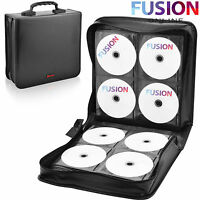 240 CD DVD WALLET SLEEVE BLURAY DISC LARGE CARRY CASE LEATHER HOLDER BAG STORAGE