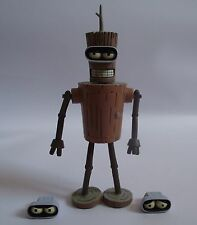 Toynami Futurama Wooden Bender action figure (Unboxed) - Sci-Fi Robot Toy Model