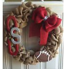 Ohio State Buckeyes Football Burlap Wreath Lg 18 Inch