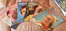 """Woman's Own1952 1954 Magazines,Advertising,Fashion,Knitting,Family lot 5 ONLY"