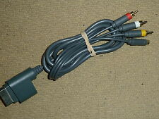 MICROSOFT XBOX 360 S-VIDEO & COMPOSITE TV AV CABLE LEAD ADAPTER SVIDEO SVID RCA