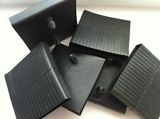 6 x Plastic slats center caps for metal, leather beds etc..(62 mm - 64 mm wide)