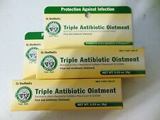 X2 Dr. Sheffields Triple Antibiotic Ointment First Aid Ointment New .33 Oz Tubes