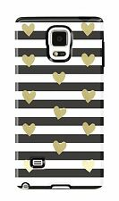 Sonix Inlay Rubber Hard Shell Case Cover For Samsung Galaxy Note 4 Heart Stripe