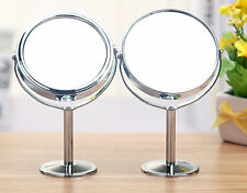 Women Beauty Make up Cosmetic Double Side Normal + Magnifying Stand Mirror RD