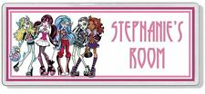 Monster High Personalised Bedroom Door Plaque / Sign *ANY NAME / MESSAGE*