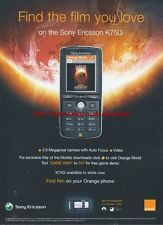 "Orange Sony Ericsson K750i ""Find The Films You Love"" 2005 Magazine Advert #2446"