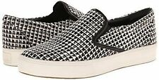 BELLE SIGERSON MORRISON  SARAS 3 BLACK WHITE TWEED SLIP ON SNEAKERS SHOES  8
