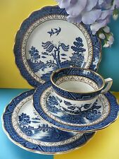 "Set Of Four -  Booths ""Real Old Willow"" Pottery A8025 Tea Set Trio & Cake Plate"