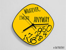 Whatever I'm Late Anyway / Oval Yellow - Wall Clock