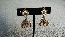 Indian Jewelry Earrings Bollywood Jhumka Tradition Ethnic Jhumki Golden Earrings